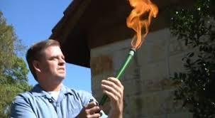 Flaming hose