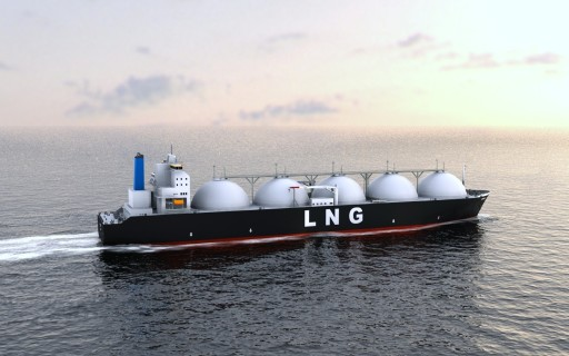 shale gas - LNG ship