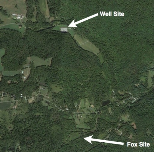 Fracking Not - A well site near Josh Fox's home.