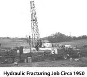 hydraulic fracturiing job 1950
