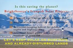 Shale Gas - Ivanpah Solar Opposition
