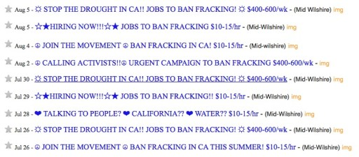anti-fracking campaigns CA