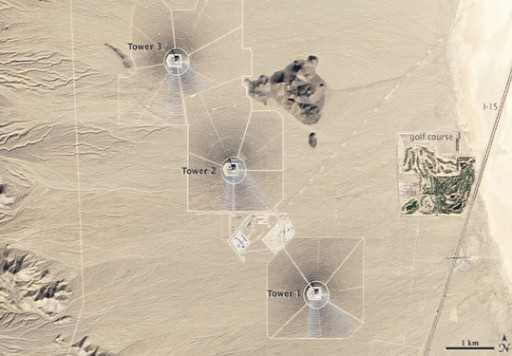 Ivanpah from space