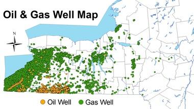 New York oil & gas wells
