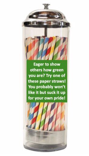 plastic straw virtue signaling