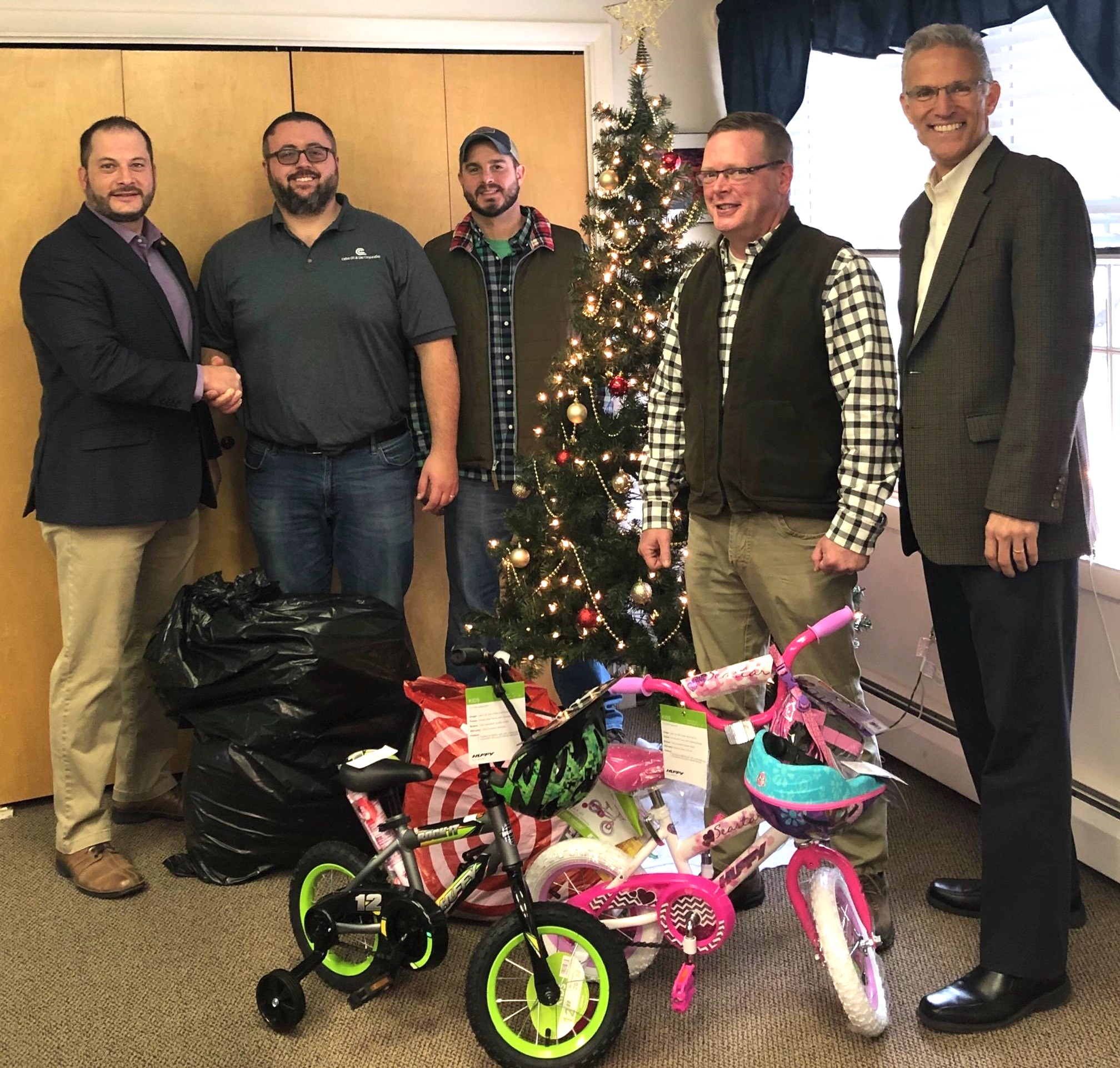 """Christmas Bureau in """"Winter Wonderland"""" Receives Gifts from Cabot"""