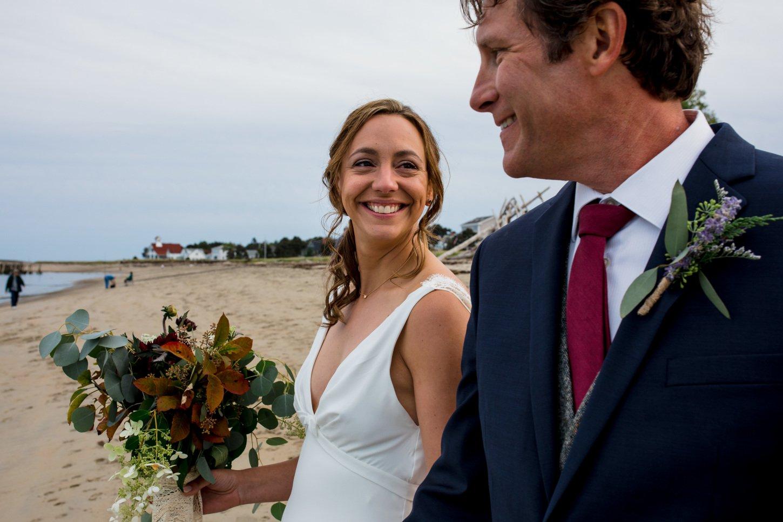Jeanethe + Josh's tented wedding in Phippsburg, ME.