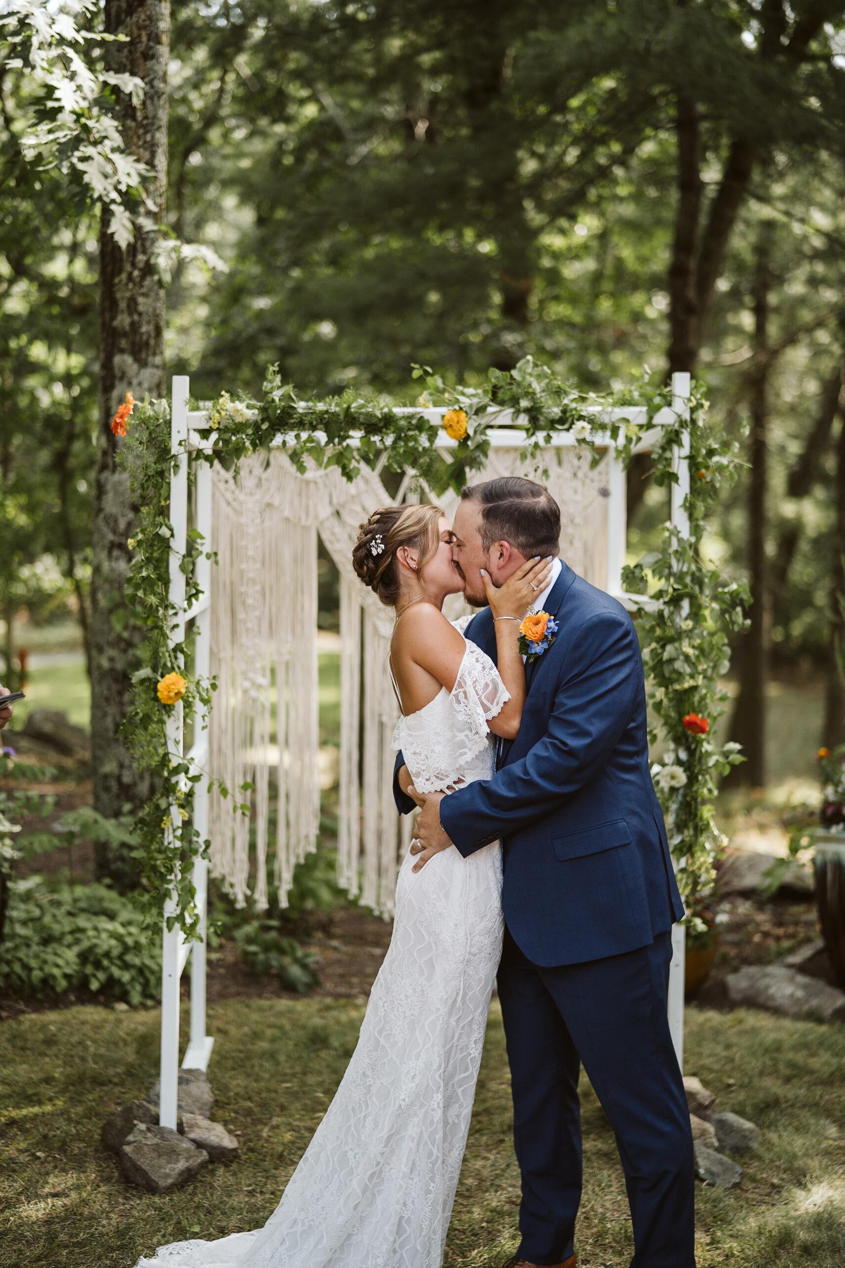 Backyard wedding- Sherborn, MA