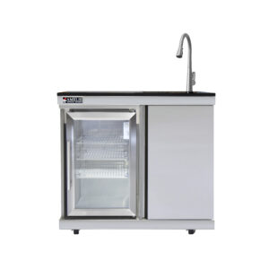 Barbecue In All | Amelie outdoor kitchen sink with fridge and drawer