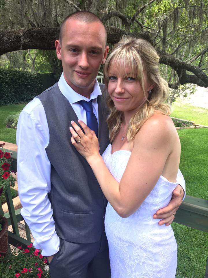 Our latest UK bride and groom at the Secret Garden