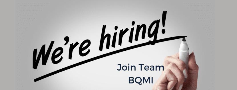 "image that says, ""We're hiring. Join Team BQMI!"""