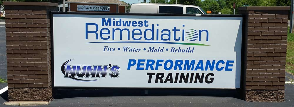 outdoor signage by by Dynamark Printing Indianapolis Indiana