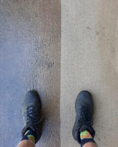Cleaned concrete