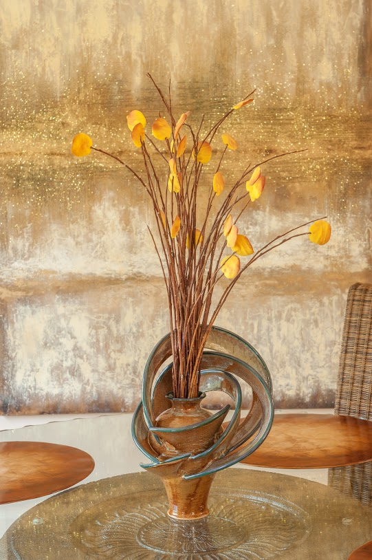 Amber Contemporary Vase