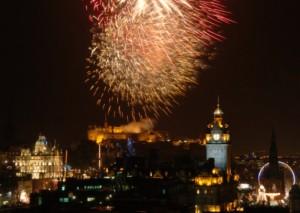 Fireworks over Edinburgh Castle as Hogmanay celebrations get underway. Picture: Julie Howden