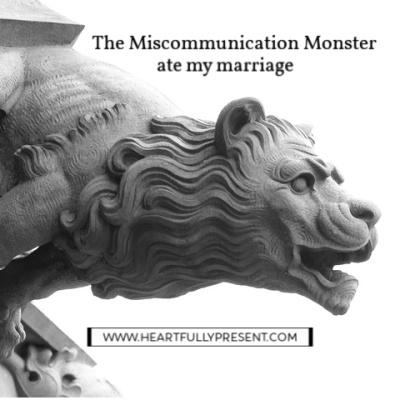 miscommunication monster gargoyle black and white