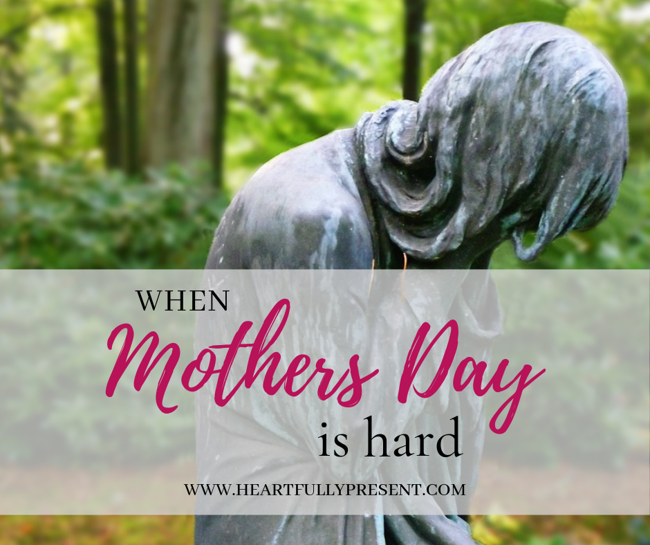 Mothers Day is hard Mothers Day feels sad feels sad crying woman statue