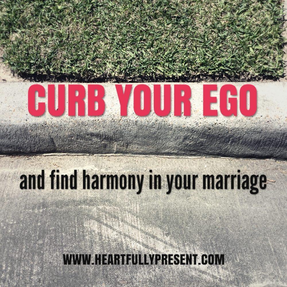 Curb your ego|grassy curb