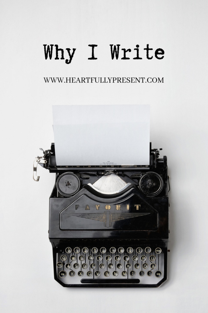 Why I Write | typewriter and blank paper | find your purpose