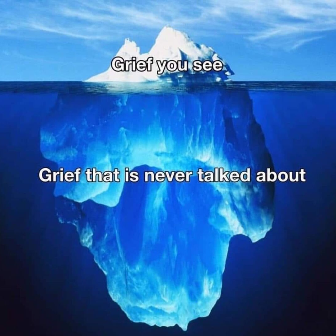 grief graphic | grief you see | grief that is never talked about | iceberg photo | grief iceberg