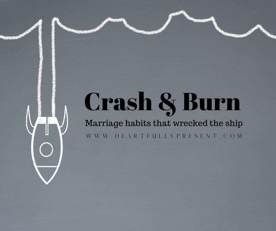 marriage habits | crash and burn | rocket ship crashing