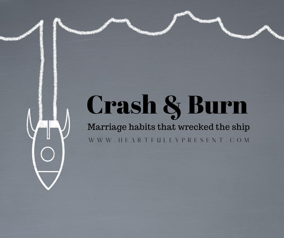 marriage habits   crash and burn   rocket ship crashing