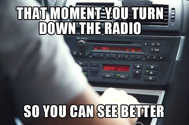 restless thoughts | that moment you turn down the radio so you can see better