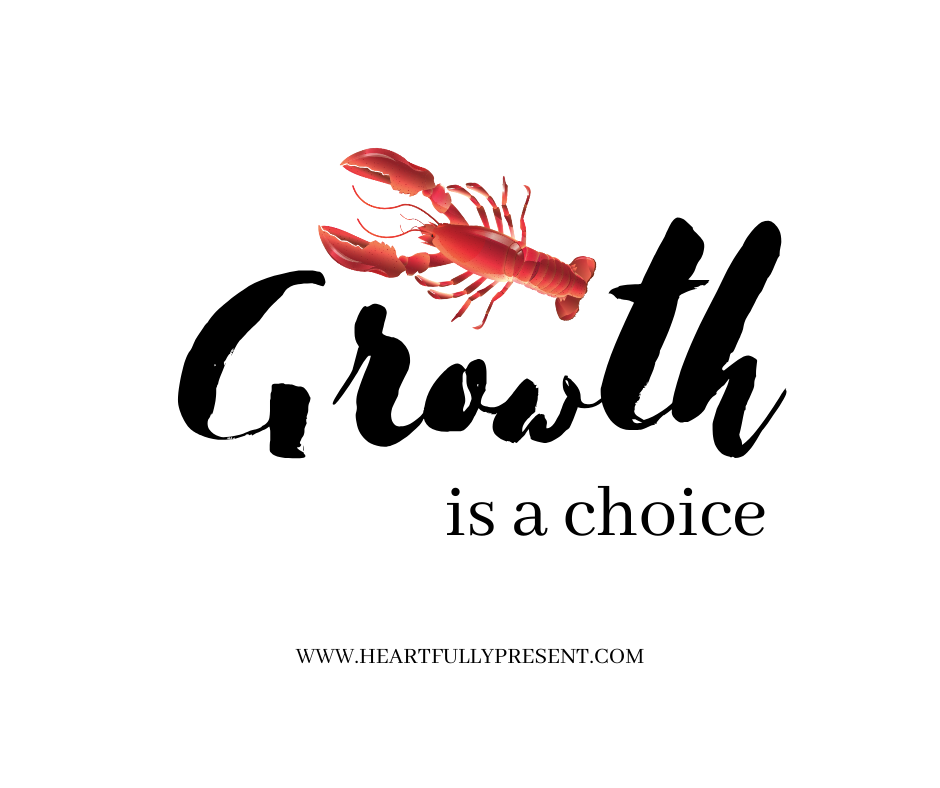 growth is a choice | personal growth | lobster graphic