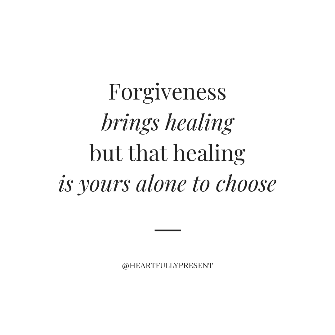 healing is yours alone to choose, black text on white background