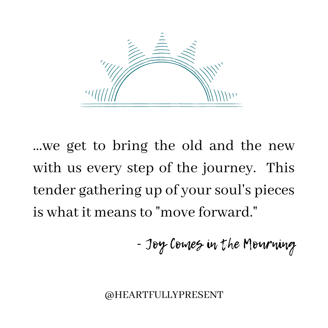 Grief quote on moving forward