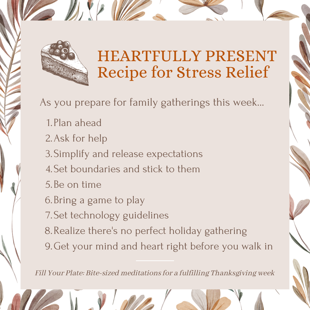 Recipe for holiday stress relief | 9 tips