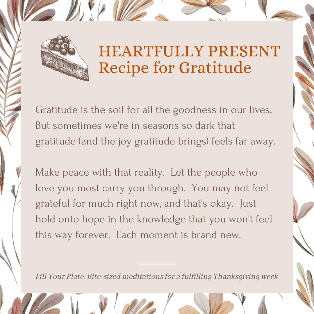 Fill Your Plate Recipe for Gratitude