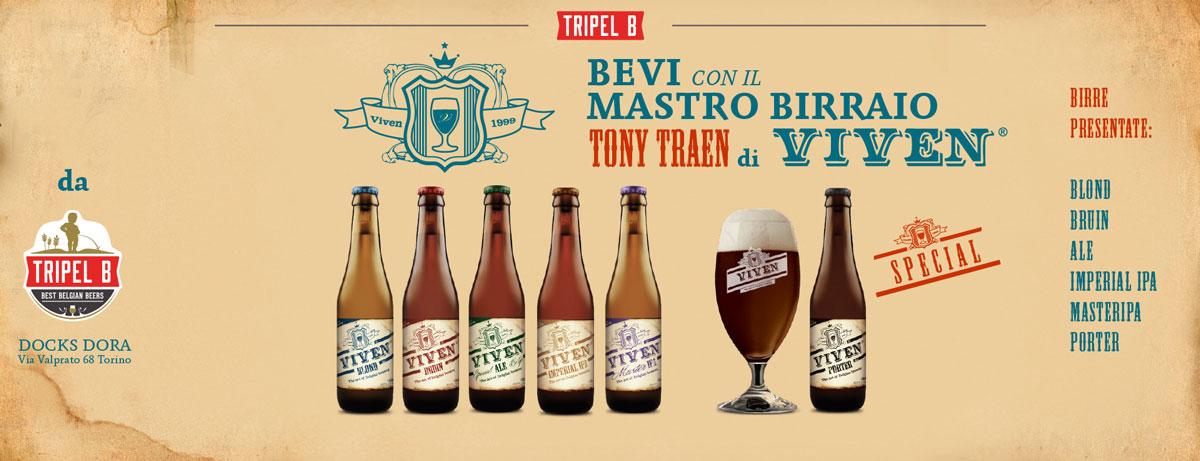 Bevi con il Mastro Birraio: VIVEN! Scopri le birre belghe a Torino con Tripel B e i Mastri Birrai de Belgio