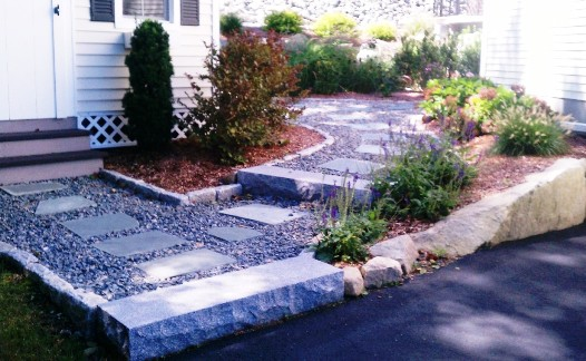 Crushed Stone & Granite Steps