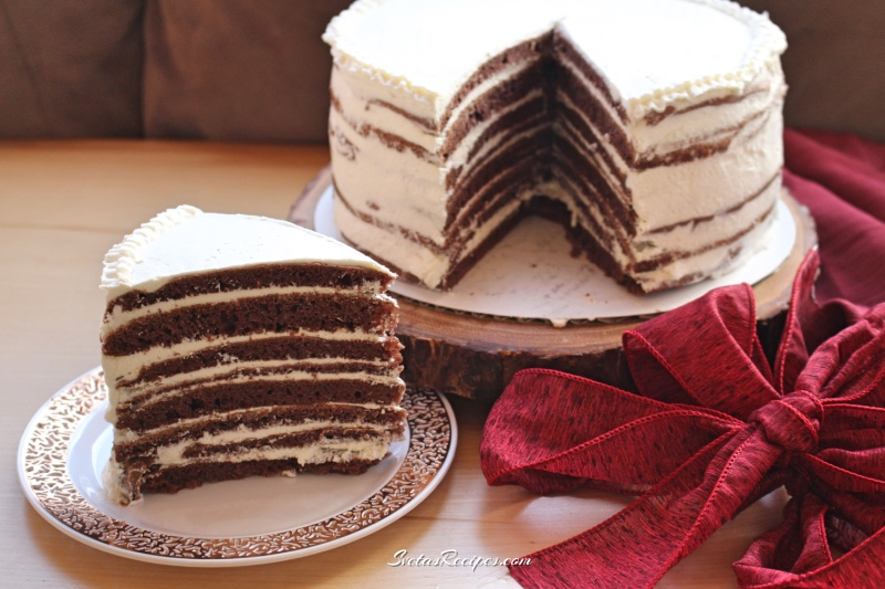 Chocolate Spartak Cake