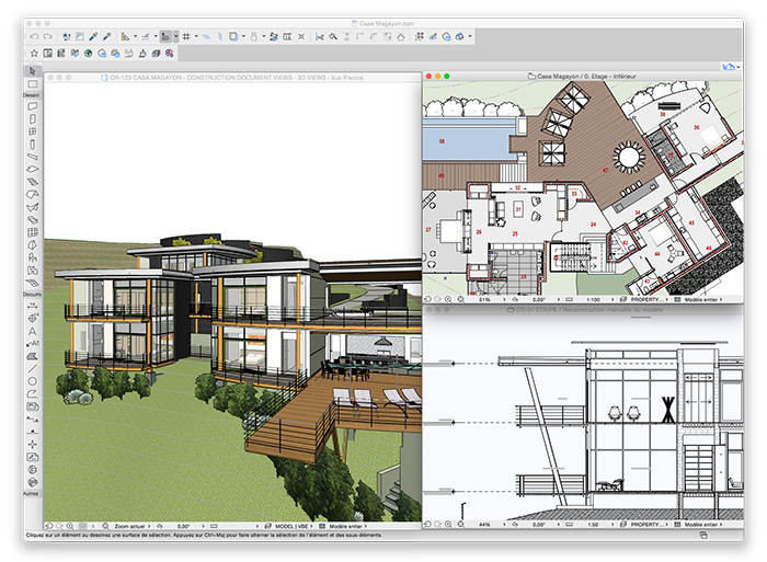 Views Open in ARCHICAD