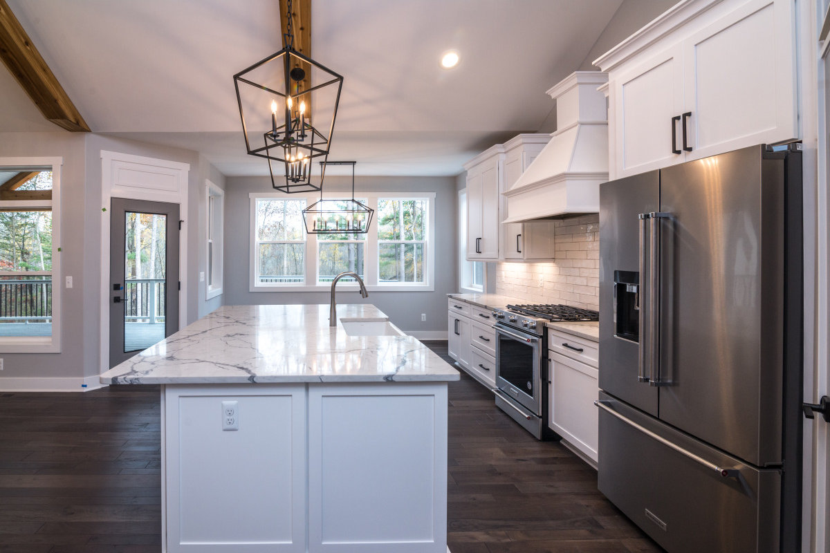 Walkout Custom Ranch with Finished Basement - Kitchen and Nook