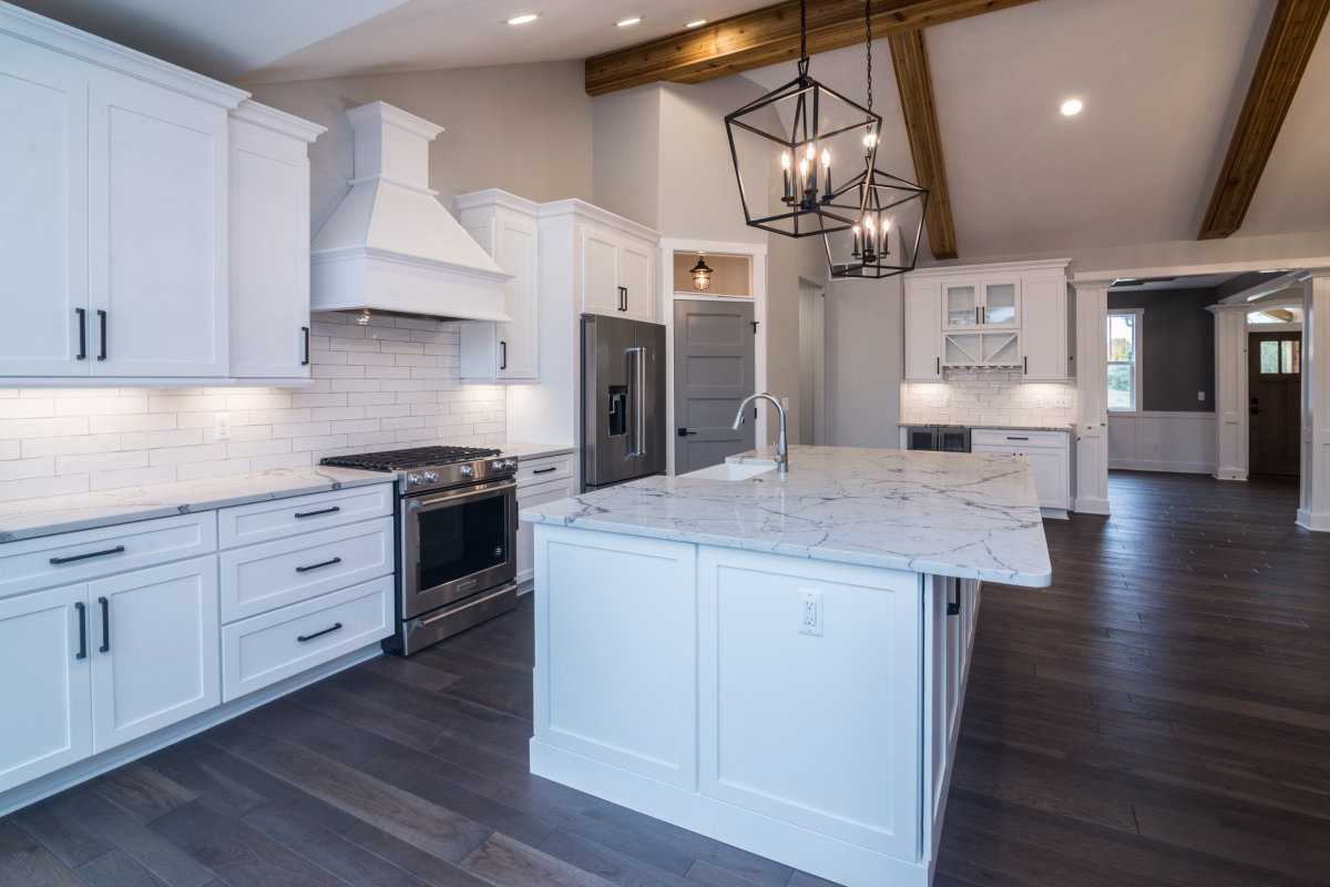 Walkout Custom Ranch with Finished Basement - Kitchen and Hall