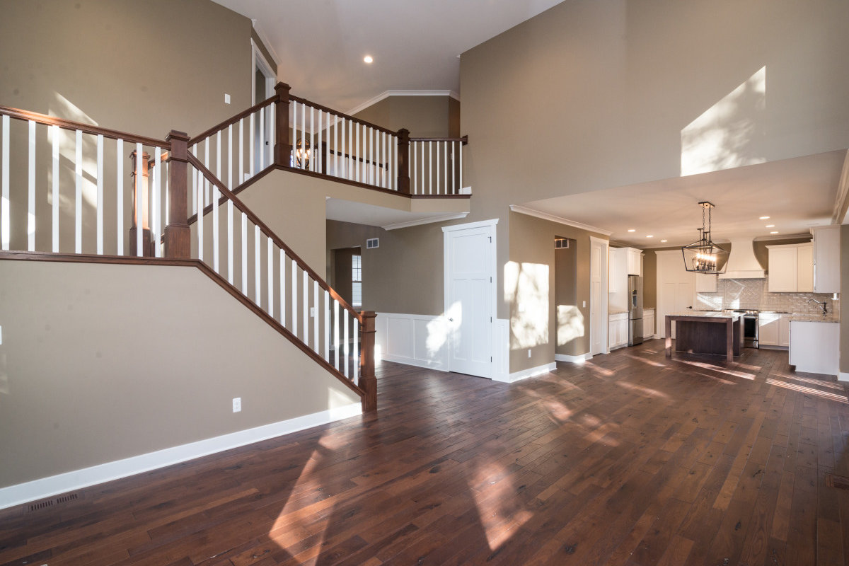 Two Story Custom Craftsman - Living Room and Staircase