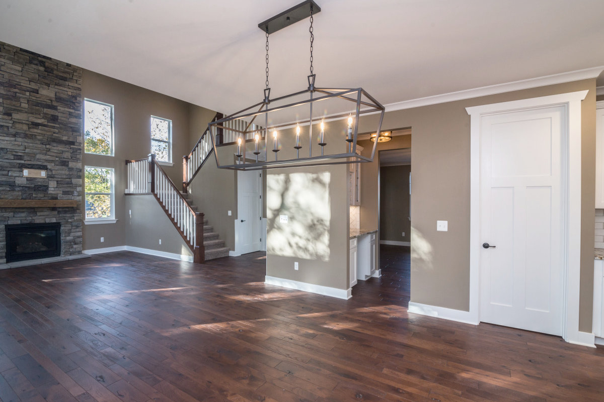 Two Story Custom Craftsman - Living Room and Dinning Area