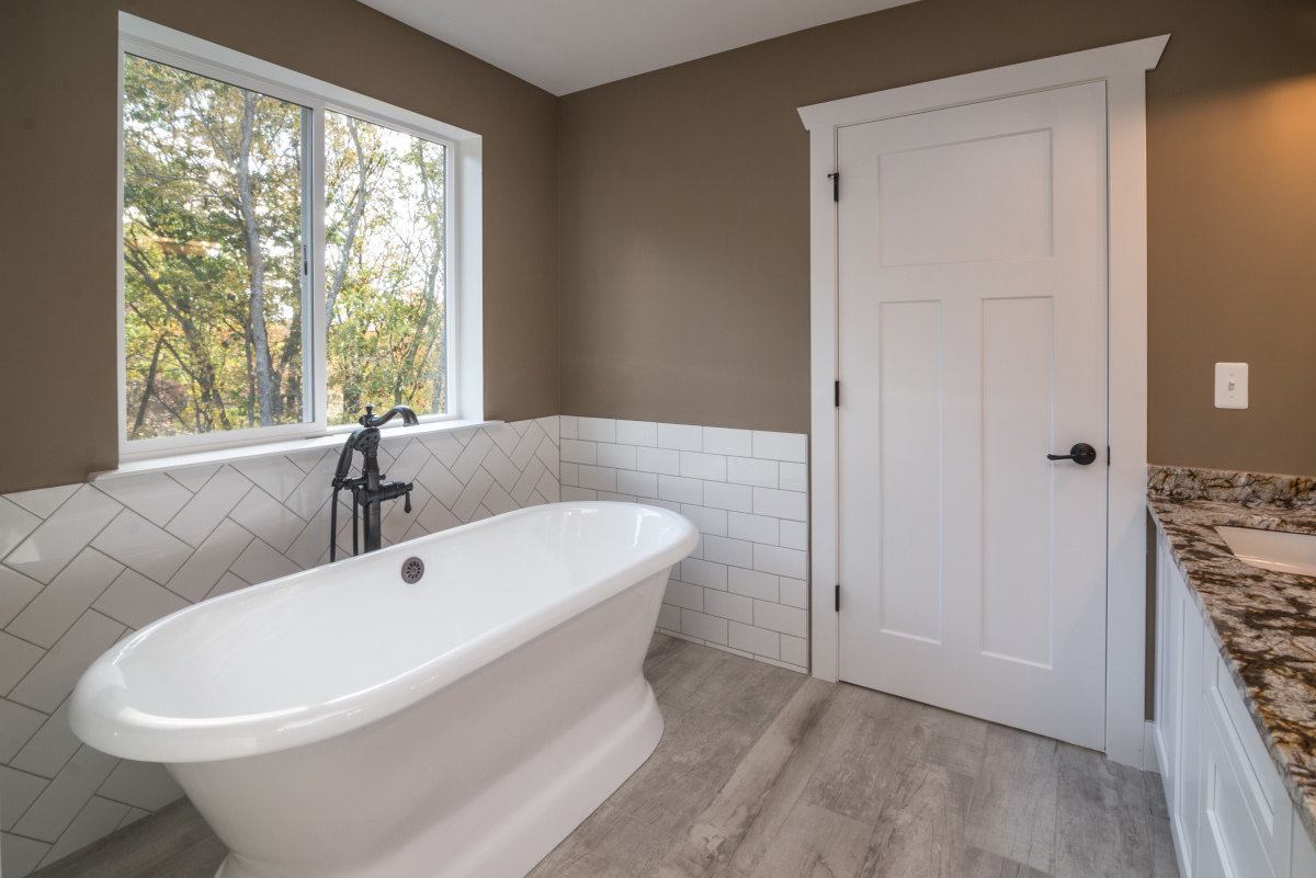 Two Story Custom Craftsman - Free Standing Tub
