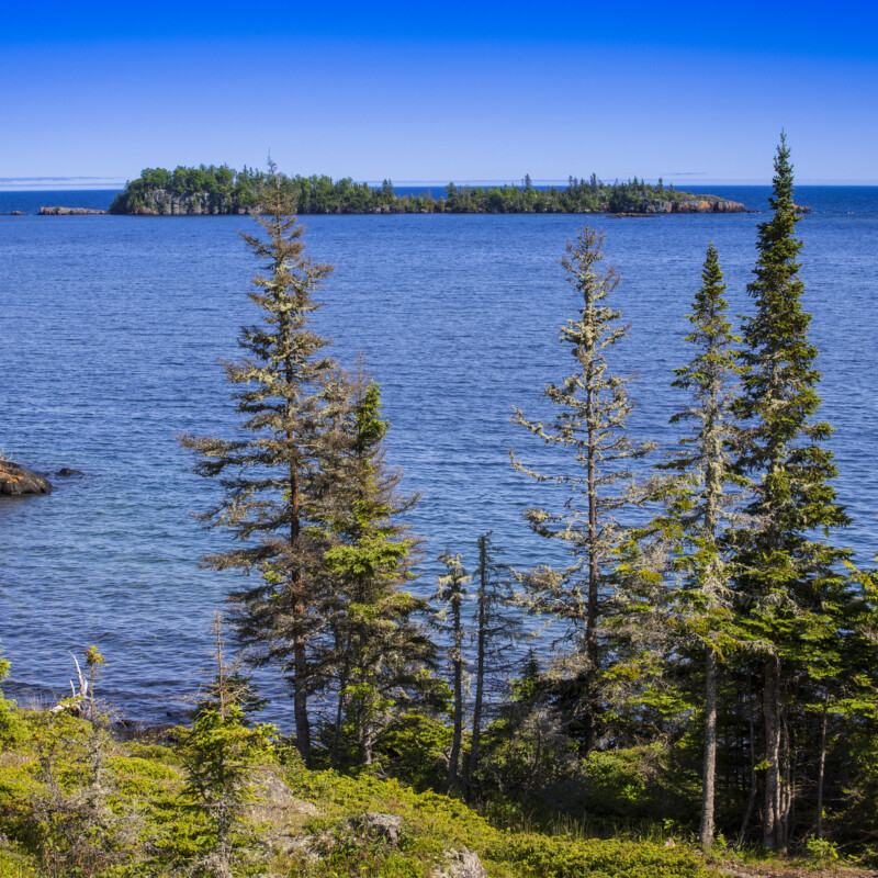 Lake Superior Shoreline, Isle Royale National Park, Michigan, USA.
