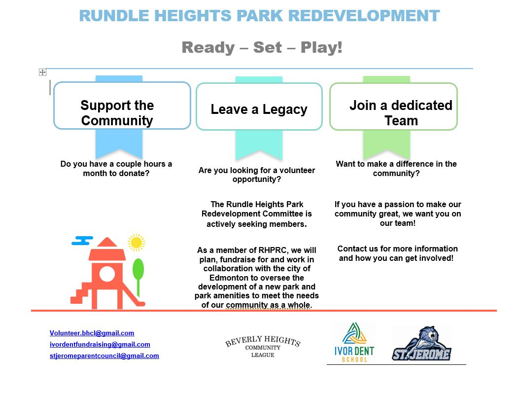 Rundle Heights Park Redevelopment poster