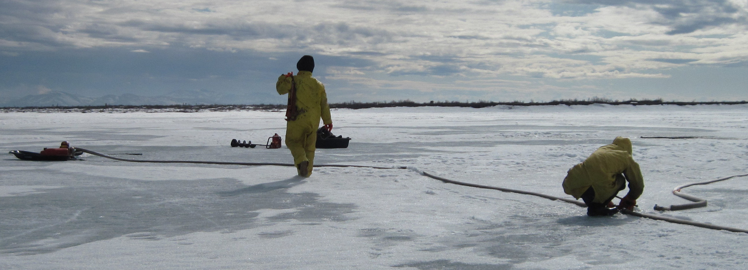 Permafrost degradation beneath lakes