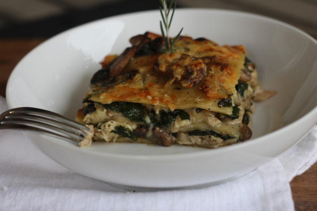 Creamy Rosemary Chicken Lasagna