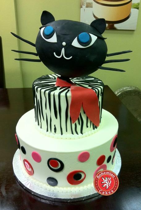 BLACK CAT CAKE