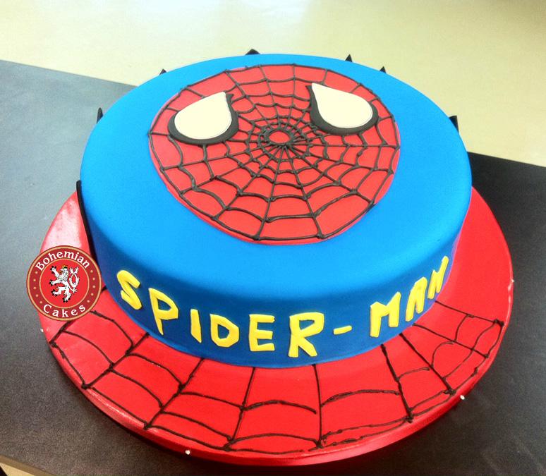 ROUND SPIDER MAN CAKE