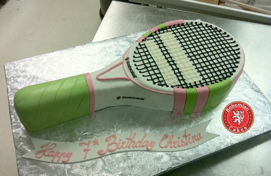 2D TENNIS RACKET CAKE