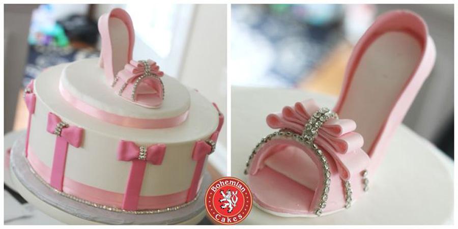 PINK SUGAR SHOE CAKE