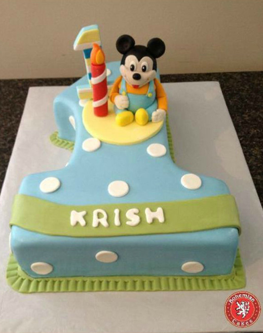 MICKEY MOUSE #1 CAKE